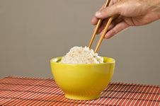 Free Chinese Rice And Chopsticks. Royalty Free Stock Photography - 9291597