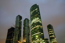 Free Skyscrapers Of Moscow City Business Center Royalty Free Stock Photo - 9291845