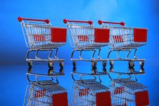 Free Shopping Carts Royalty Free Stock Images - 9291889