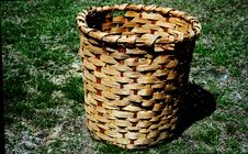 Free Old Cotton Basket Stock Photo - 9291970