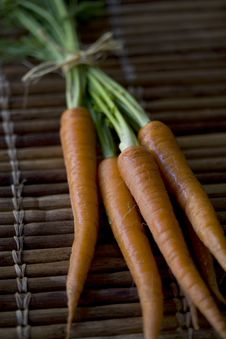 Fresh Organic Carrots Royalty Free Stock Photo