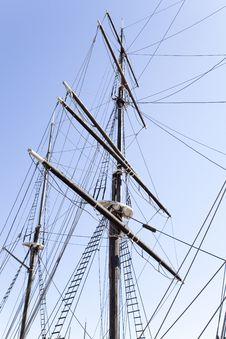 Free Mast Of An Old Sailing Ship Stock Photos - 9293853