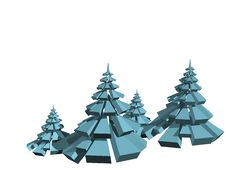 Free Geometric Fir Trees Royalty Free Stock Image - 9294116