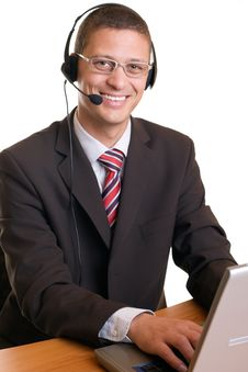 Free Call Center Agent Stock Image - 9294281