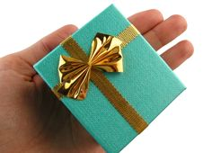 Free Gift In A Hand Stock Photography - 9294722