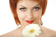 Free The Woman And A Flower Stock Images - 9295514