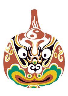 Beijing Opera Mask Royalty Free Stock Image