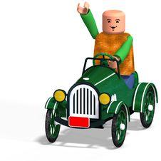 Free Toy Boy Drives Car Royalty Free Stock Photo - 9296305