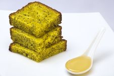 Free Cake With Poppy-seeds And Honey Royalty Free Stock Photos - 9296428