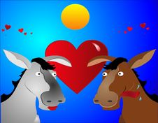 Free Don-key Love Stock Photography - 9296982