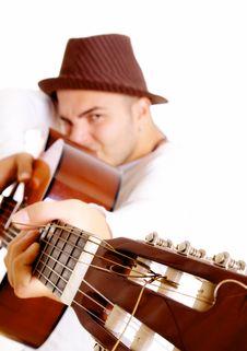Free Guitar Man Royalty Free Stock Images - 9297679