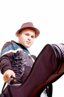 Man And Guitar Royalty Free Stock Image