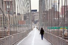 Free Walk Way On Brooklyn Bridge Stock Images - 9297784