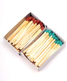 Free Colored Matchsticks Stock Photography - 9299252