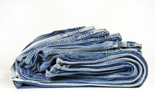 Free Folded Washed-out Blue Jeans Stock Photos - 9299753