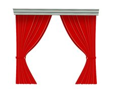 Free Red Curtain Stock Images - 9299944