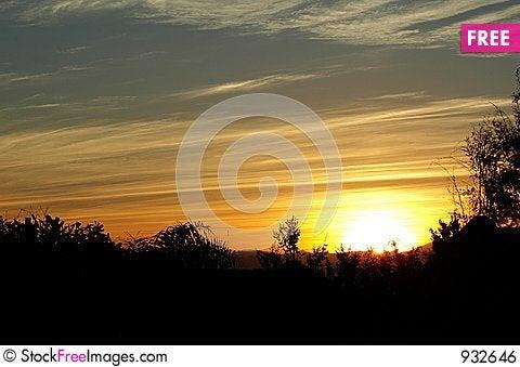 Free Sunset Royalty Free Stock Image - 932646