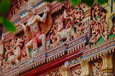 Free Birdman Figure On Temple Wall. Surat, Thailand. Stock Image - 932271