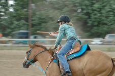 Free Flags At A Horse Show (Motion Blur) Stock Photo - 933210