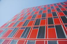 Red Modern Office Building 03 Royalty Free Stock Photo
