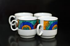 Free Four Coffee Cups Stock Images - 933914