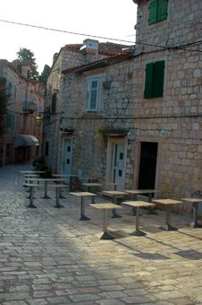 Street Cafe Croatia Stock Image