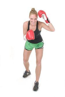 Free Woman Boxer 4 Royalty Free Stock Images - 934599