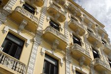 Colonial Balconies Royalty Free Stock Photo