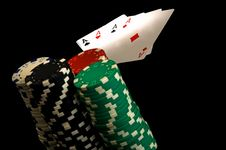 Free 4 Aces With Chips Stock Images - 934964