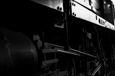 Free Steam Engine In Shed Royalty Free Stock Image - 935666