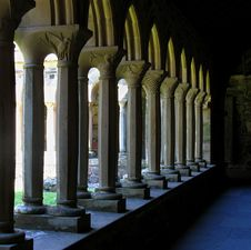 Iona Abbey Cloisters Royalty Free Stock Photography