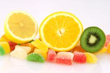 Fruits And Jelly Royalty Free Stock Image