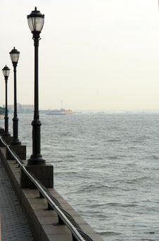 Free Esplanade In Battery Park, Manhattan Stock Photography - 938652
