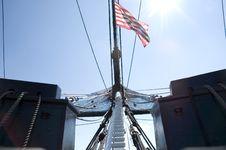 Sailing Ship Masts Royalty Free Stock Photo