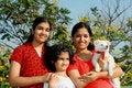 Free Three Girls And Dog Stock Photos - 9304363
