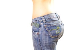 Free Woman Jeans Royalty Free Stock Photography - 9300277