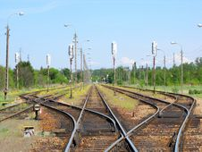 Free Railway Tracks Royalty Free Stock Images - 9300449