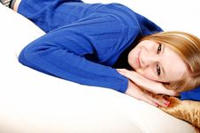 Free Teen Relaxing Royalty Free Stock Photography - 9300877