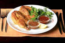 Free Roasted Whole Chicken On A Plate Royalty Free Stock Photo - 9300885