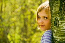 Free Portrait Of Young Beautiful Woman Stock Photo - 9301010