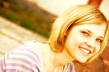 Free Portrait Of Young Beautiful Woman Royalty Free Stock Photos - 9301018