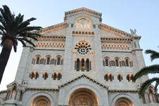 Catedral Del Principado De Monaco Royalty Free Stock Images