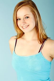 Free Teen In Blue Stock Photography - 9301122
