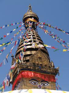 Free Nepalese Stupa Royalty Free Stock Image - 9301656