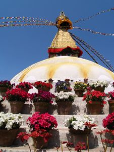Nepalese Stupa Royalty Free Stock Photography