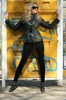Free Model Posing At The Wall Stock Photo - 9302300