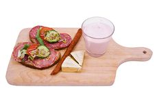 Sandwiches And Breakfast Products Stock Photo