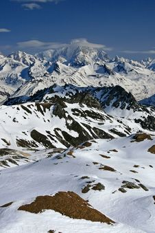 Free Snow Covered Mountains Royalty Free Stock Photography - 9302477