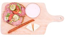 Sandwiches And Breakfast Products Royalty Free Stock Images