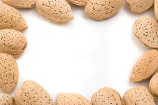 Free Almond Frame. Royalty Free Stock Images - 9302849